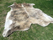 LARGE BRINDLE GRAY BROWN Cowhide Rug natural Cowhides Cow Hide Skin 6X6 FT RT