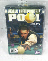 World Championship Pool 2004 PC Cd-Rom New Sealed (READ) Jaleco 2003 Snooker