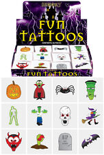 36 Adult Kids Halloween Horror Zombie Temporary Mini Tattoos Party Bag Filler