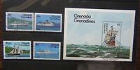 Grenada Grenadines 1984 Ships set & Miniature Sheet Used