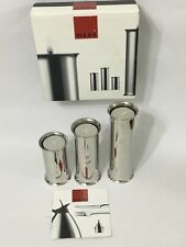 "Menu"" Danish Steel House Scandinavian Design Stainless Tealight Candlestick Set"