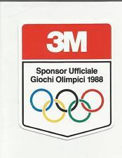 88909 ADESIVO LABEL STICKER 3M SPONSOR UFFICIALE GIOCHI OLIMPICI 1988
