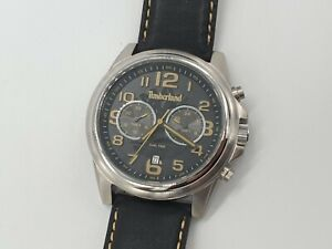 Timberland Pickett Men's Dual Time Watch With Black Leather Strap 14518JS/02A