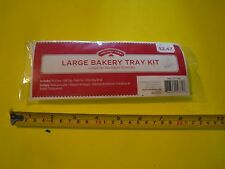 New ! Holiday Time Large Bakery Tray Kit  Includes Pull Bow Gift Tag Twist Tie