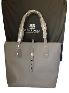 Gemporia Genuine Leather Handbag - Grey