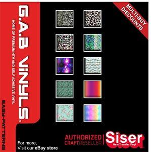 A4 sheet - Siser Easy Patterns HTV PREMIUM Vinyl IRON ON/HEAT PRESS/Cricut