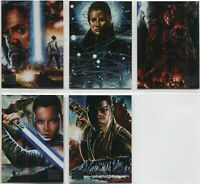 Star Wars - Galaxy 2018 - Legends - Complete 5 Card Chase SET - 2018 Topps - NM