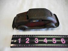 VINTAGE OLD EARLY TOY RED FRICTION TIN CAR-MISSING ONE TIRE BUT WORKS NO NAME