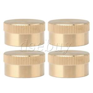 4 Pieces Solid Brass Refill Propane Bottle Cap for 1 LB Gas Tank Cylinder