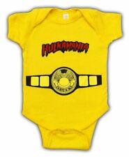 WWE Hulkamania World Champ Costume Yellow Snapsuit Infant  Baby Romper