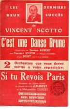 Partition 1942 Chant Piano Orchestre - Fox-trot & valse de Vincent SCOTTO