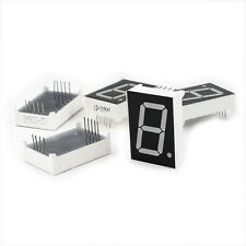"5 Pcs Common Cathode 10 Pin 1 Bit 7 Segment 1"" Red LED Digital Tube DT"