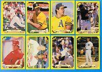 (8) 1987 Classic Travel Yellow Baseball Card Lot Clemens McGwire Mattingly Rose