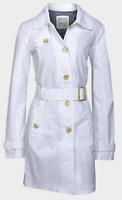 Ladies Genuine Espirit White Cotton Lined Trench Coat Mac 6-16 Summer Coat Parka