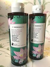 2 x Korres Water Lily Shower Gel  ~ 250ml Each ~ 1st Class Post ~ Vegan Friendly