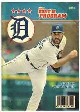 2016 Topps Bunt Baseball (Physical) Programs #P-19 Justin Verlander Tigers