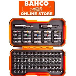 BAHCO 100 PCE SCREWDRIVER BITS & MAGNETIC HOLDER POZI,PHILLIPS,HEX,TX, 59/S100BC