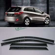 For Hyundai i30 II Wagon 2012-2015 Window Visors Sun Rain Guard Vent Deflectors