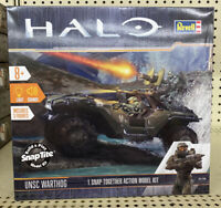 REVELL 1766 HALO UNSC WARTHOG BUILD & PLAY SNAP-TITE MODEL KIT w/LIGHTS & SOUND