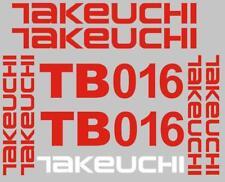 Decal Sticker Set Pour TAKEUCHI TB016 Mini Digger Bagger Pelle