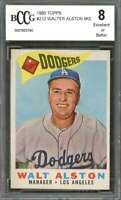 Walter Alston Card 1960 Topps #212 Mg Los Angeles Dodgers BGS BCCG 8