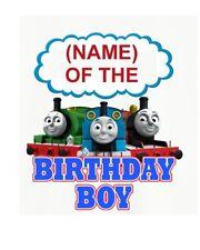::::::: THOMAS THE TRAIN PERSONALIZED BIRTHDAY BOY:::T-SHIRT IRON ON TRANSFER