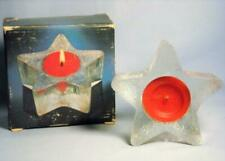 Vintage 1980 Avon Starbright Fragrance Red Candle Bayberry Scent Star Shaped New