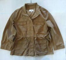 Military Jacket Women's XXXL 22 Coat Khaki Beige Safari Bungee Waist Time & Tru