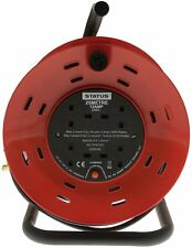 25 Meter 13A 4 Socket Cable Reel Thermal Out CE certified Handy Reset Button New