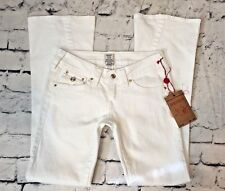 NWT True Religion 29x33 2S Body Rinse White Disco Joey Jeans- Bling Crystal Sexy