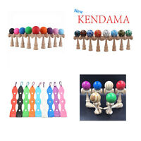 1x New Kendama Japanese Traditional Game Educational Skillful Wooden Toy&Holder