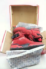 Patrick Ewing 33 Hi Red Black Suede Basketball Shoes Mens 13