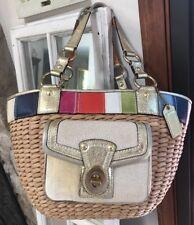 f81a7c68e8fc Тренер сумочка замша и соломы большие сумка с короткими ручками M0668-10749  хорошее б/у