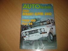 Auto hebdo N°79 Alpine A442.Formule 1.