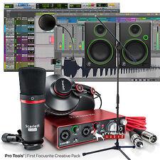 Focusrite Scarlett Studio 2nd Gen Home Recording Bundle System + Mackie Monitors
