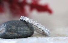9.00 Ct White Round Diamond Engagement Infinity Band Ring 14K White Gold Finish
