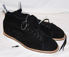 Dr Martens Aire andar Negro Zapatos De Cuero Ante Mujer LESLEY 8 NUEVO
