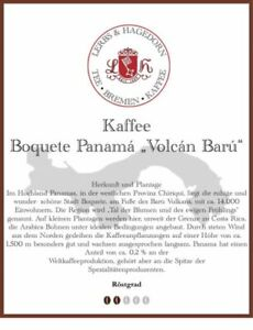 "Boquete Panamá ""Volcán Barú"" Kaffee 1kg"