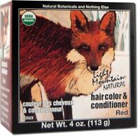 Natural Hair Color & Conditioner Red by Light Mountain, 4 oz