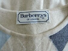 Vintage Burberrys of London Burberry Short Sleeves Argyle Diamond Jumper Sweater