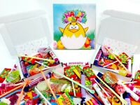 Prefilled Easter Retro Sweet Box - Boys Girls Party Gift Stocking Fillers