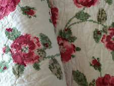 Designers Choice Maeve Floral Shabby Chic Quilted Large Throw Rug Blanket