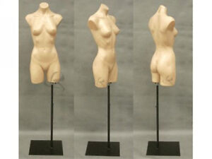 Female Manequin Mannequin Manikin Torso Form #PS-P907F+BS-05BK