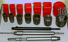 6 concrete core drill bits SDS or triangl 2 1/2 2 1/4 2 1 3/4 1 1/2 1 3/8