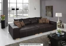 Design Big Sofa Deluxe Kunstleder Federkern Mega  XXL Couch