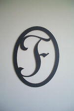 Black Wood Initial (Letter F) Wall Decor Sign