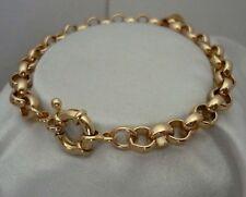 GF 9k Gold Belcher Bolt Ring Solid Bracelet 9k 9ct GF
