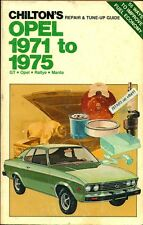 1971 1972 1973 1974 1975 OPEL GT OPEL RALLYE OPEL MANTA REPAIR MANUAL by CHILTON