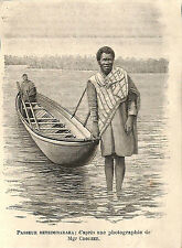 MADAGASCAR PASSEUR BETSIMISARAKA GRAVURE ENGRAVING 1899
