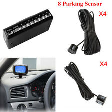 Car 8 Pcs Rear & Front View Parking Sensors LCD Display Radar Voice Alert System